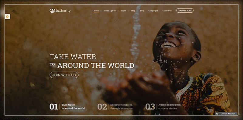 Thème WordPress de charité - Thème InCharity pour la charité, la collecte de fonds, les organisations à but non lucratif