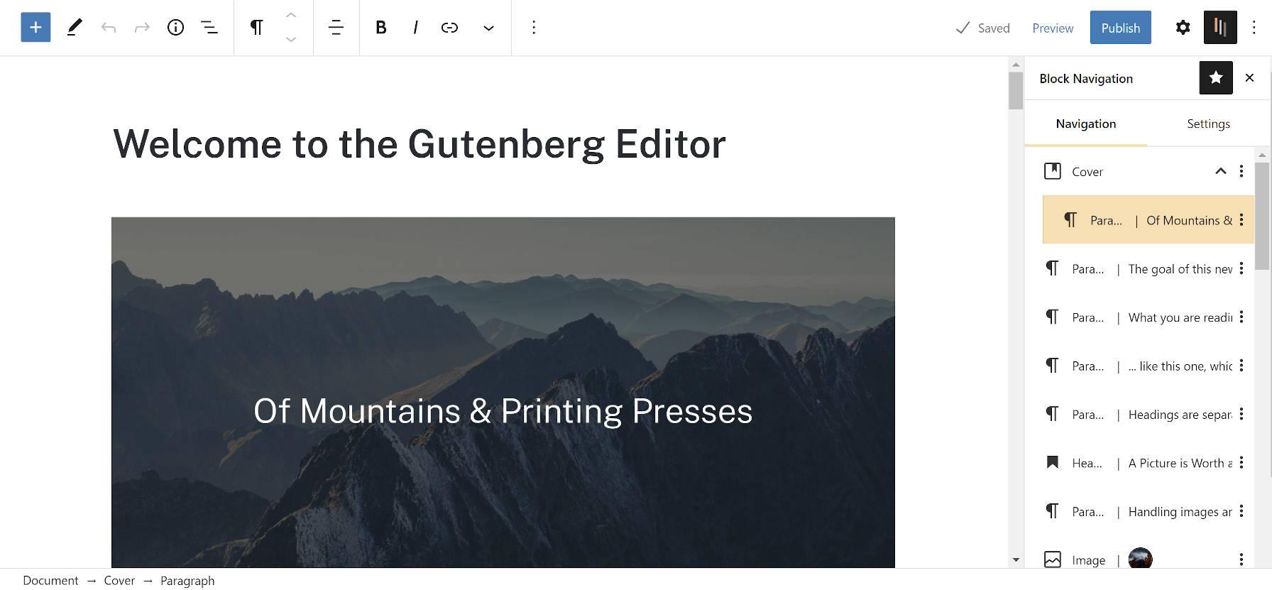 Bloquer la barre latérale de navigation dans l'éditeur WordPress.