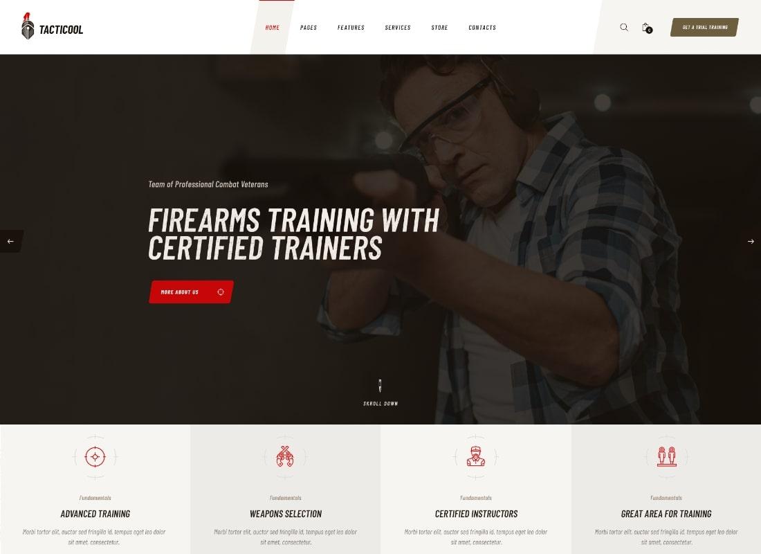 Tacticool |  Thème WordPress pour Shooting Range & Gun Store