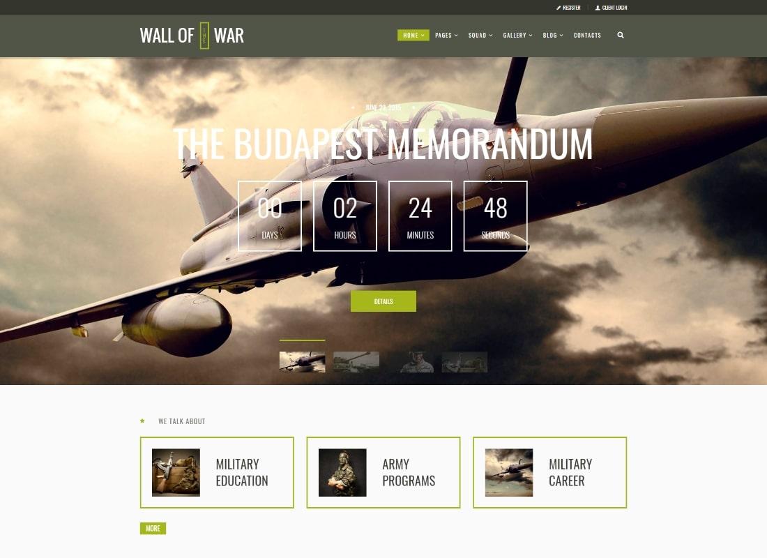 Militarologie |  Thème WordPress du service militaire et des vétérans de l'armée