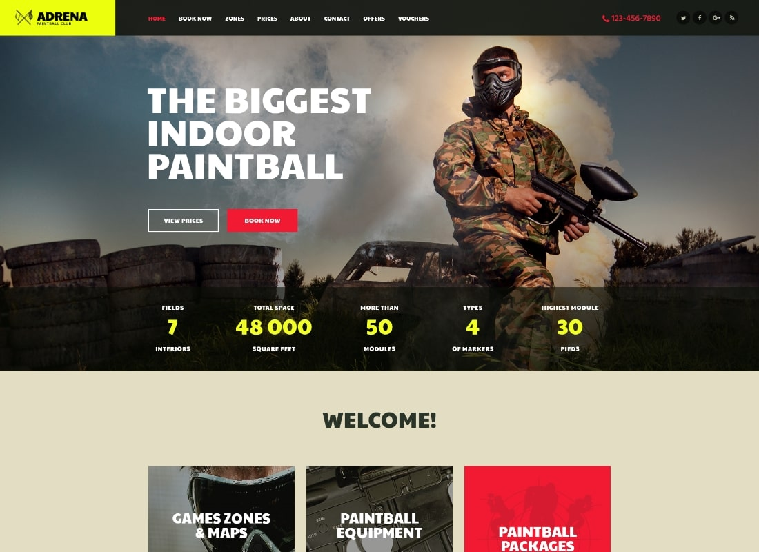 Adrena | Thème WordPress Airsoft Club & Paintball