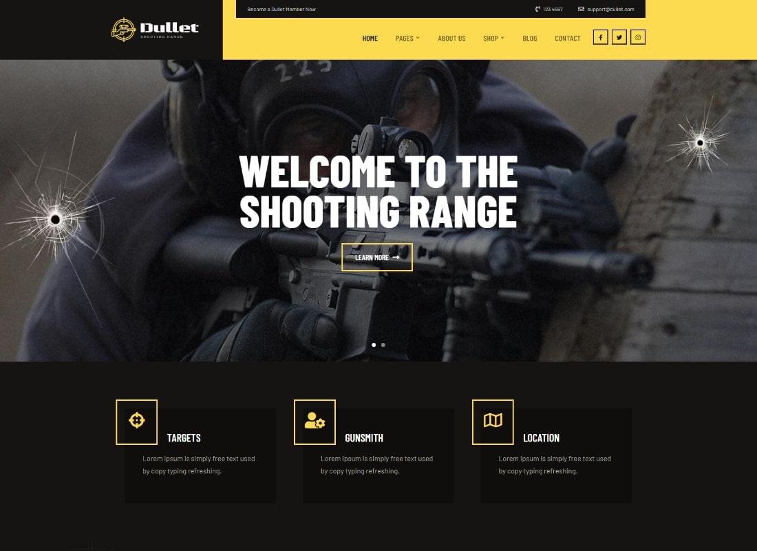 Dullet |  Thème Champ de tir et Gun Club
