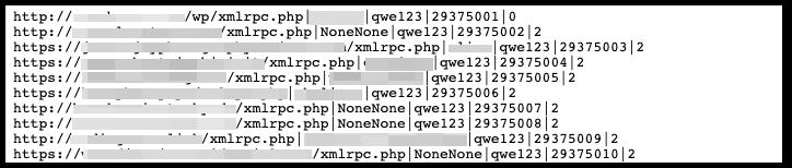 Une liste expurgée des domaines à cibler, y compris le nom d'utilisateur NoneNone et le mot de passe qwe123