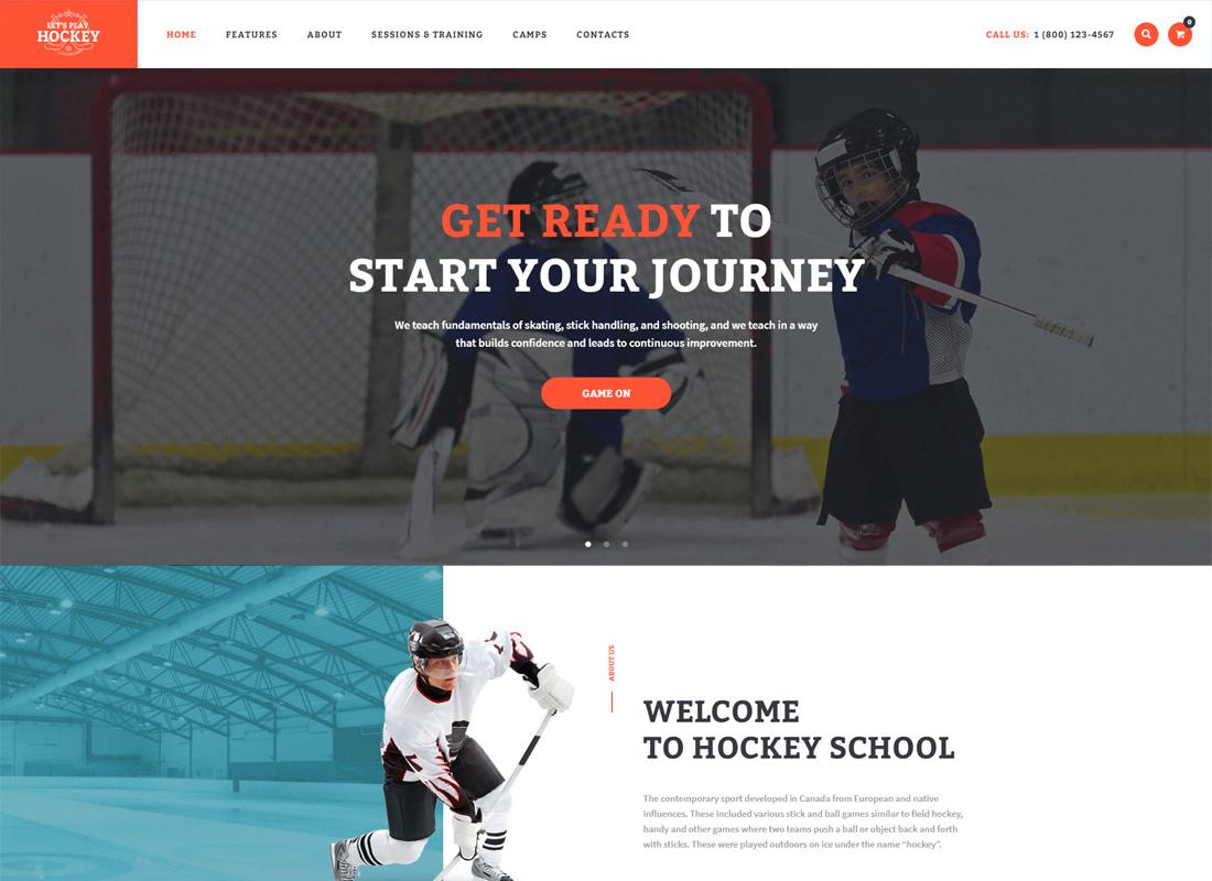Jouons - Thème WordPress pour école de hockey et sport