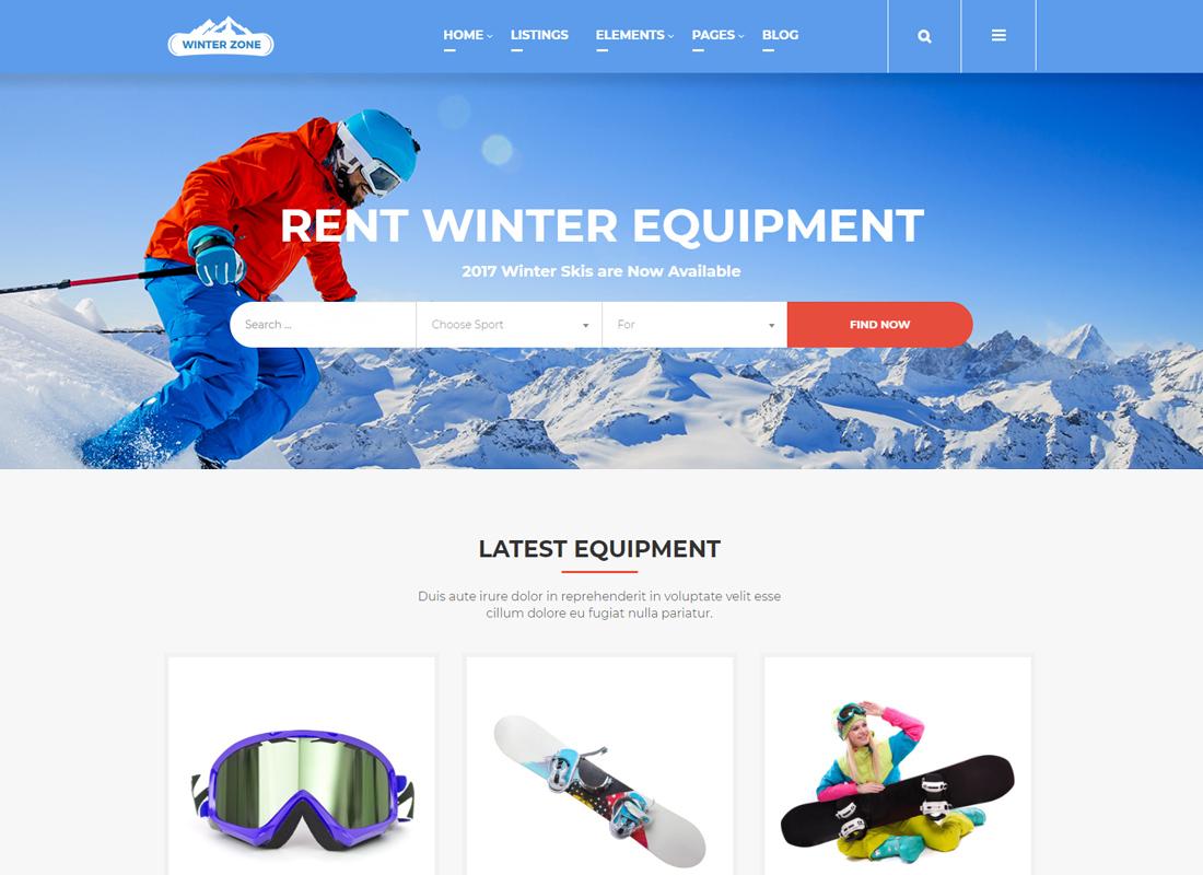 WinterZone - Thème WordPress pour le ski et les sports d'hiver
