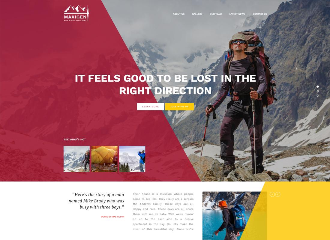 Maxigen - Thème WordPress pour la randonnée et l'extérieur
