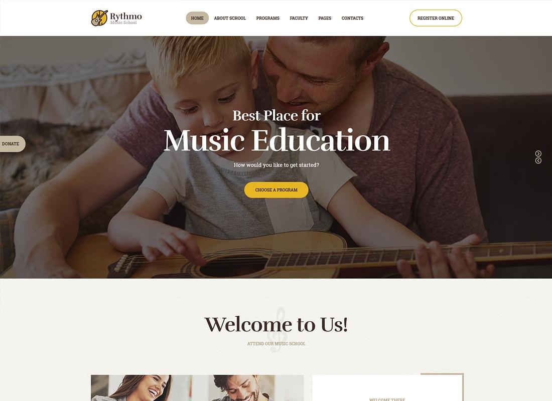 Rythmo | Thème WordPress de l'école de musique