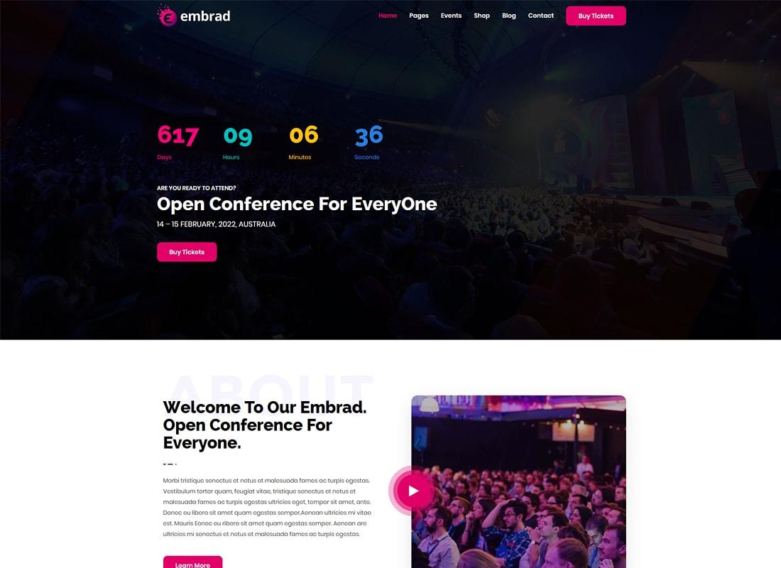 Embrad | Thème WordPress pour événements et conférences