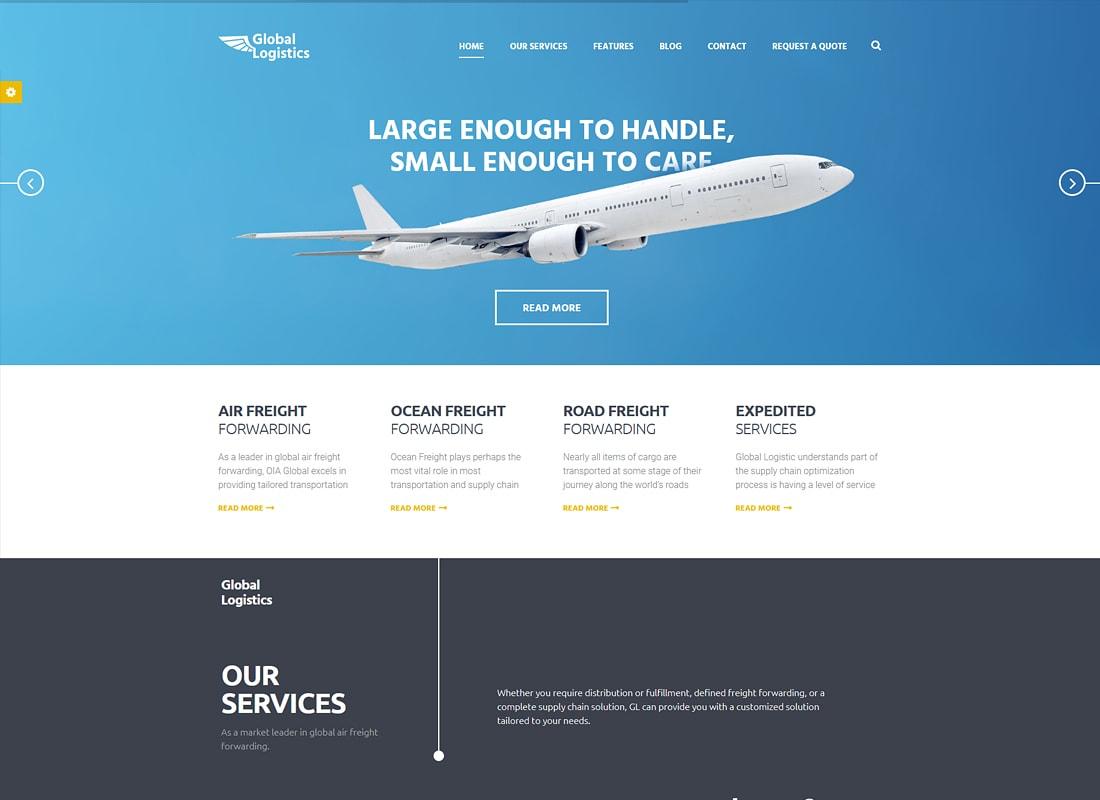 Logistique mondiale | Thème WordPress pour le transport et l'entreposage