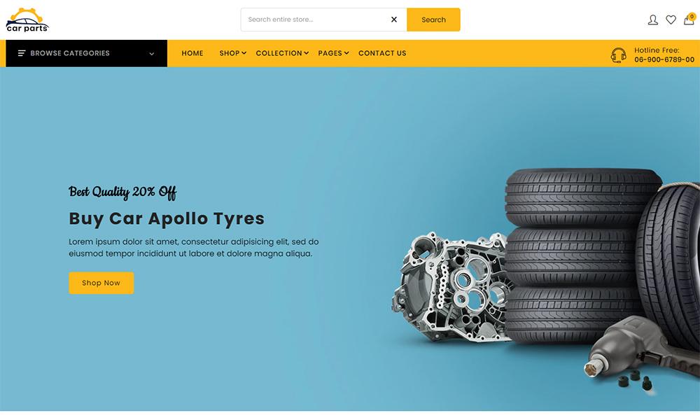Pièces auto - Le thème Shopify Pièces auto et pièces auto