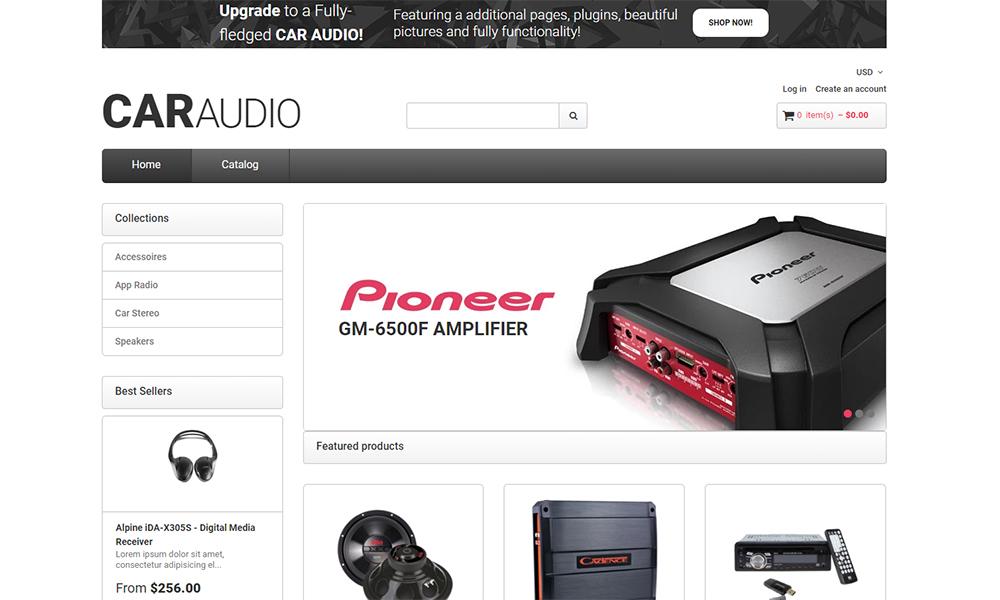 CarAudio - Thème Shopify propre pour le commerce électronique de pièces de voiture