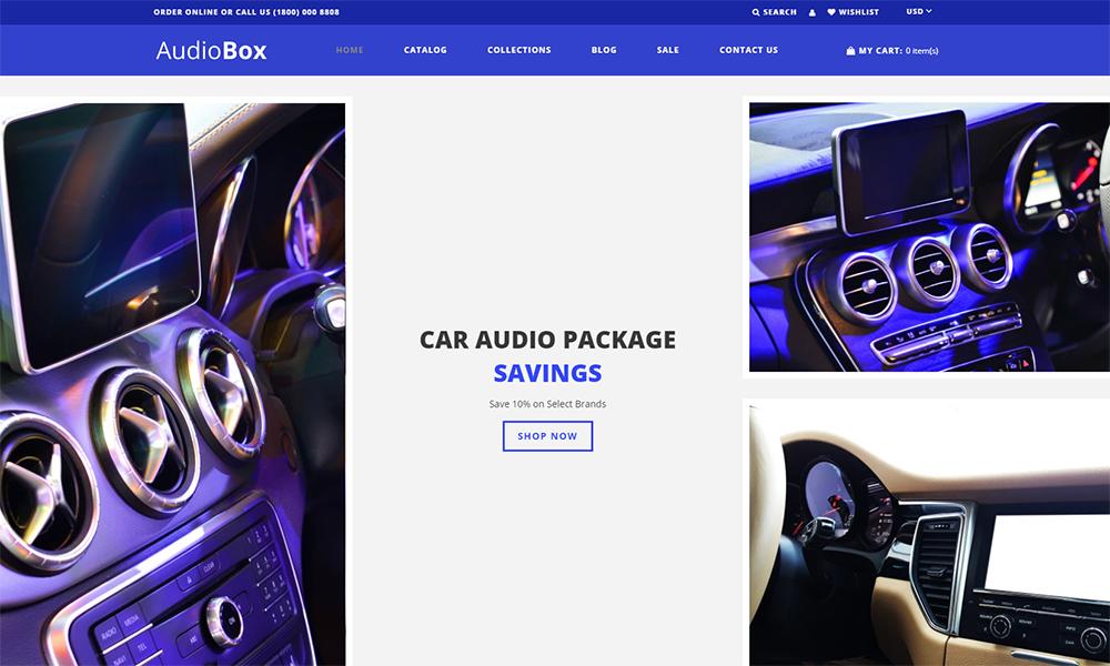 AudioBox - Thème Shopify moderne Car Audio E-Commerce