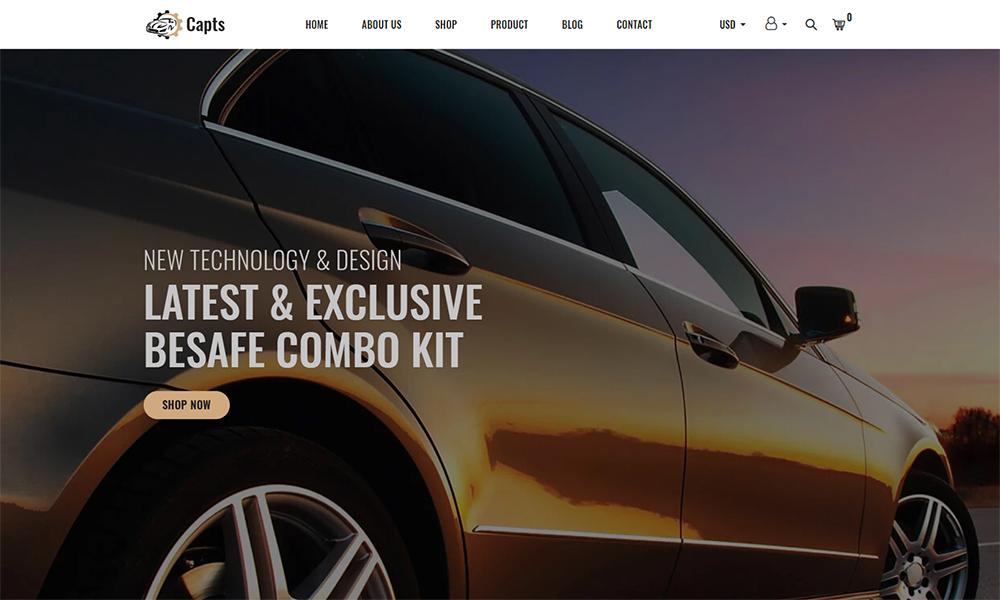 Capts - Thème Shopify réactif pour les pièces automobiles