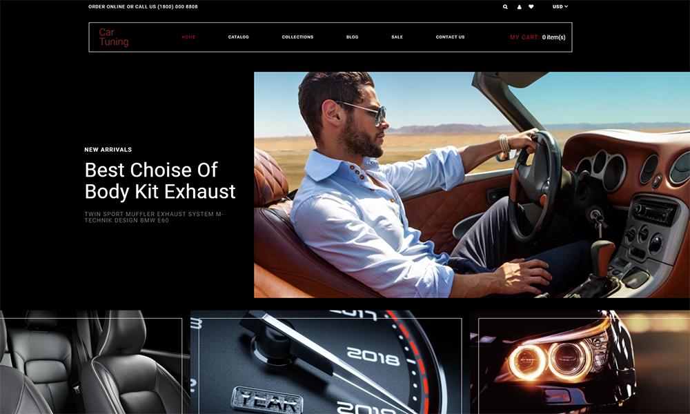Tuning de voiture - Thème Shopify moderne Multipage Tuning de voiture
