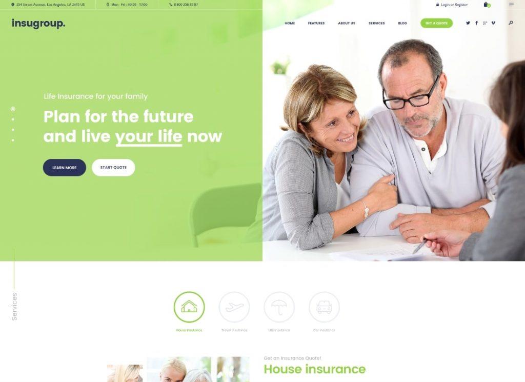 Insugroup    Un thème WordPress Clean Insurance & Finance