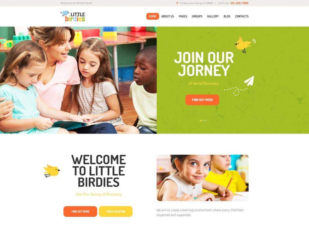 Petits oiseaux    Un thème WordPress polyvalent pour la maternelle