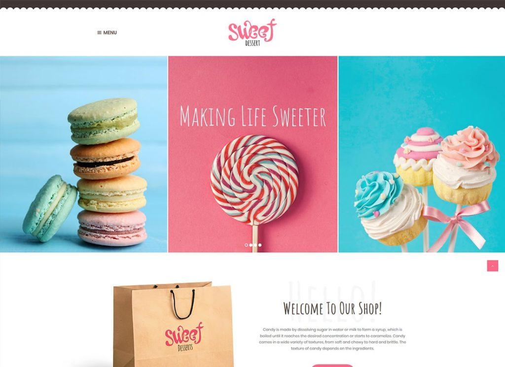Dessert sucré    Thème WordPress Candy Shop & Cafe