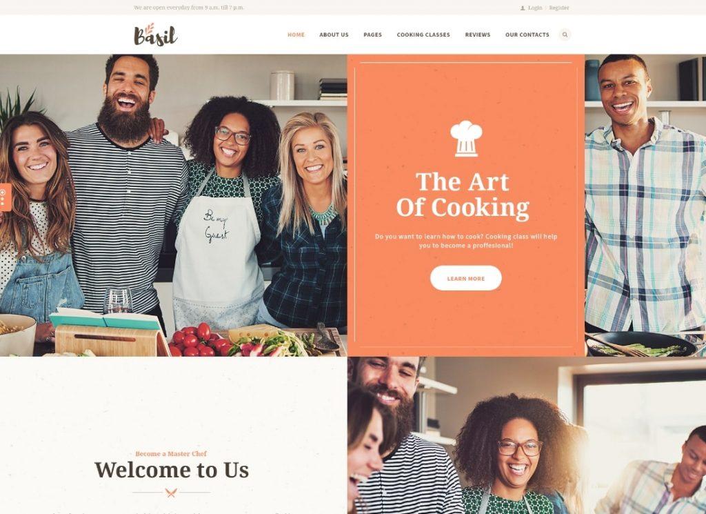 Basil    Thème WordPress pour cours de cuisine et ateliers