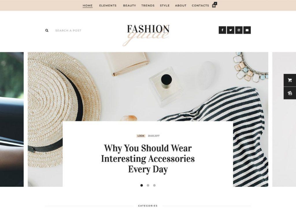 Guide de la mode    Thème WordPress pour magazine en ligne et blog de style de vie