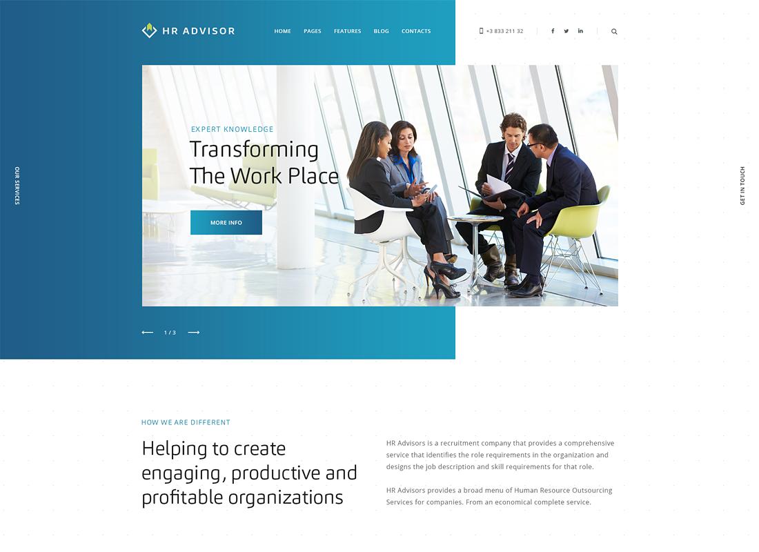 Conseiller RH    Thème WordPress pour les ressources humaines et le conseil aux entreprises