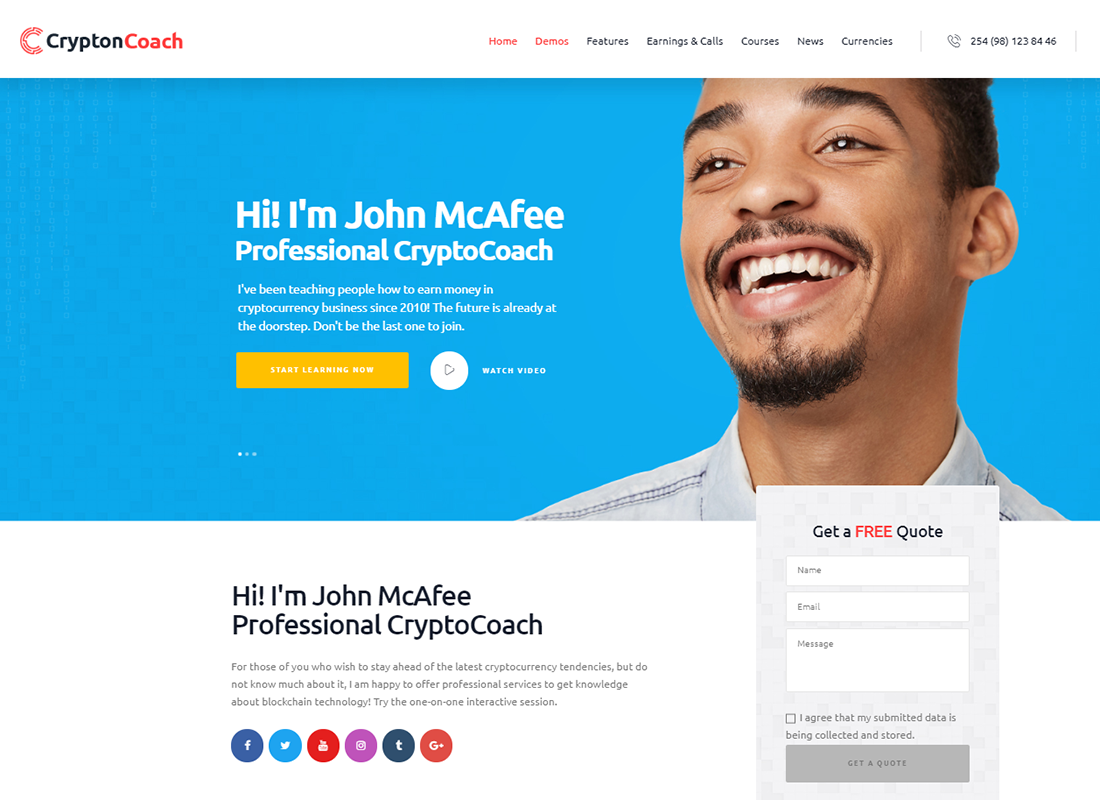 Crypton    Un thème WordPress de crypto-monnaie polyvalent