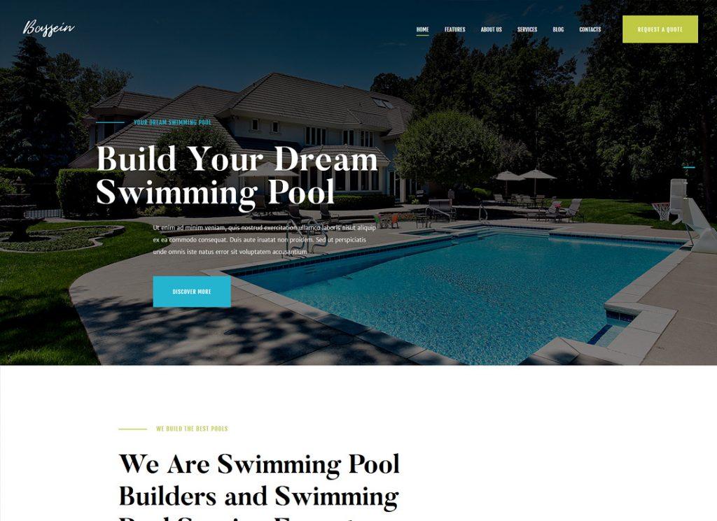 Bassein    Thème WordPress pour le service de nettoyage et d'entretien de piscine