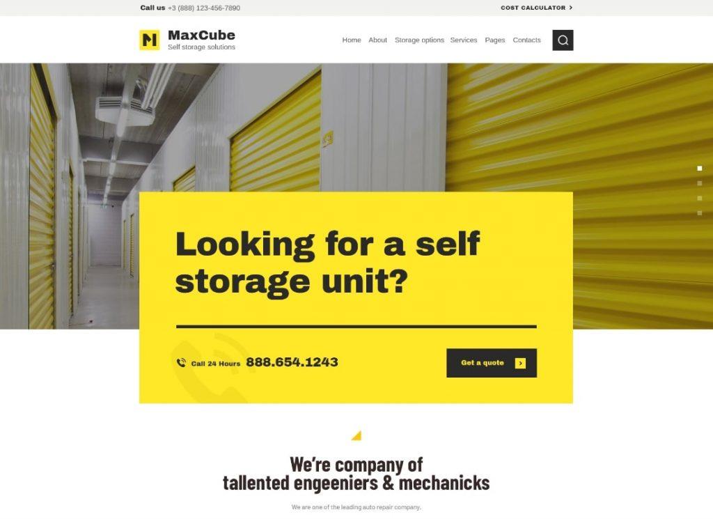 MaxCube    Thème WordPress pour entreprise de déménagement et de stockage en libre-service