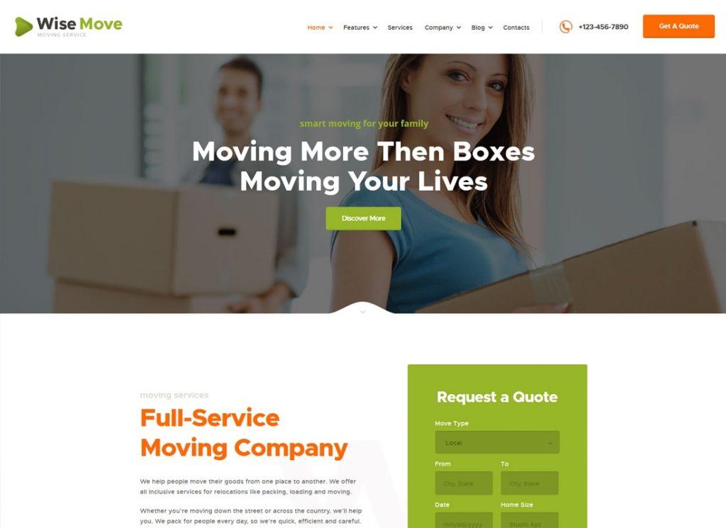 Mouvement sage    Thème WordPress des services de relocalisation et de stockage