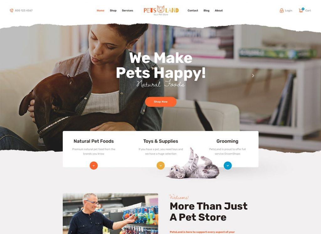Animaux Land |  Thème WordPress pour animaux de compagnie et vétérinaires