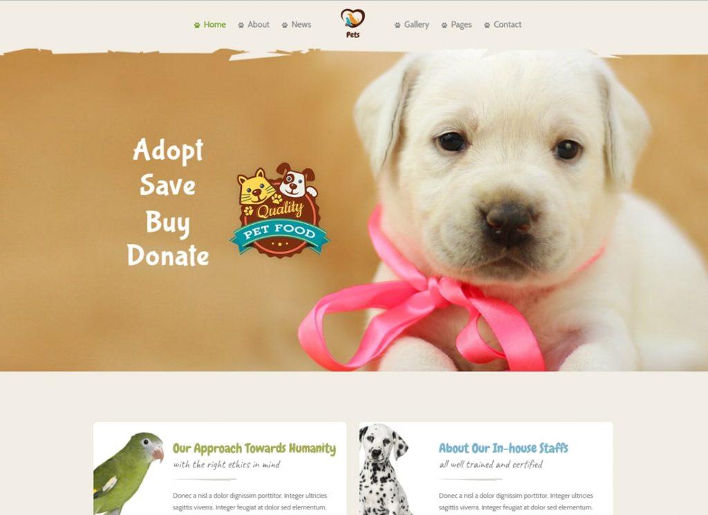 Monde des animaux |  Pet Sitter et Pet Shop, Thème WordPress pour les soins des animaux