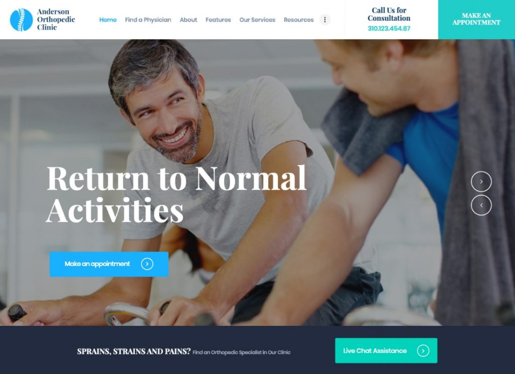 Anderson |  Thème WordPress pour clinique orthopédique et centre médical