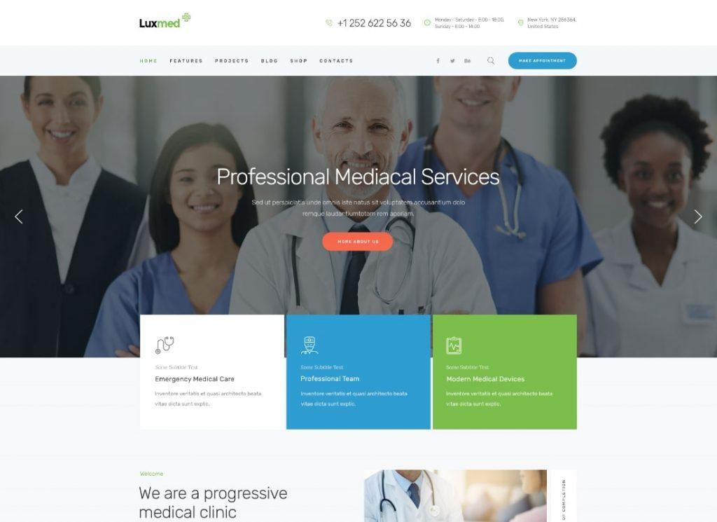 LuxMed |  Thème WordPress pour la médecine et la santé