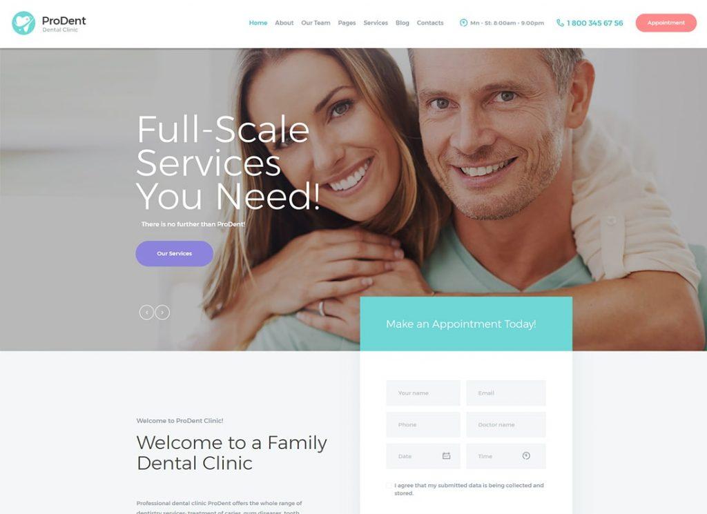 ProDent |  Thème WordPress pour clinique dentaire et santé