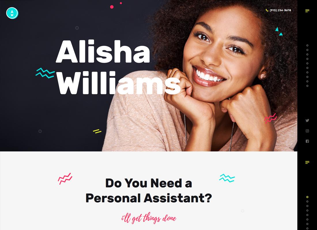 A.Williams    Un thème WordPress pour l'assistant personnel et les services administratifs