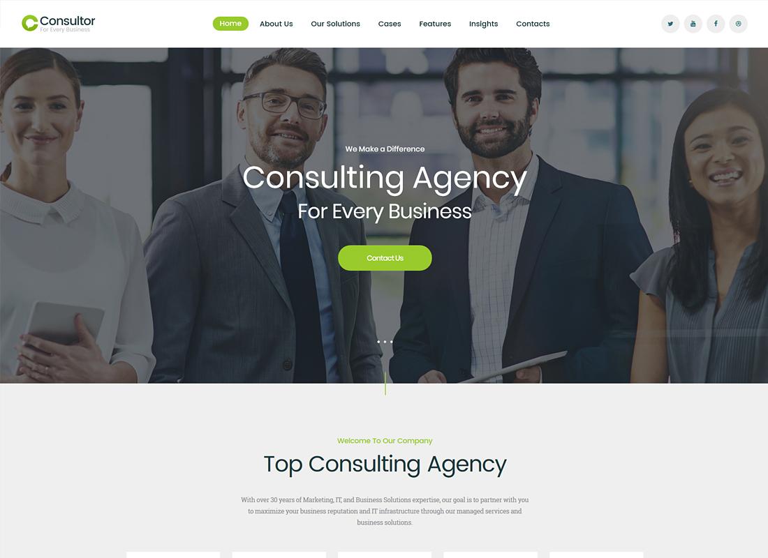 Consulteur    Un thème WordPress de conseil aux entreprises