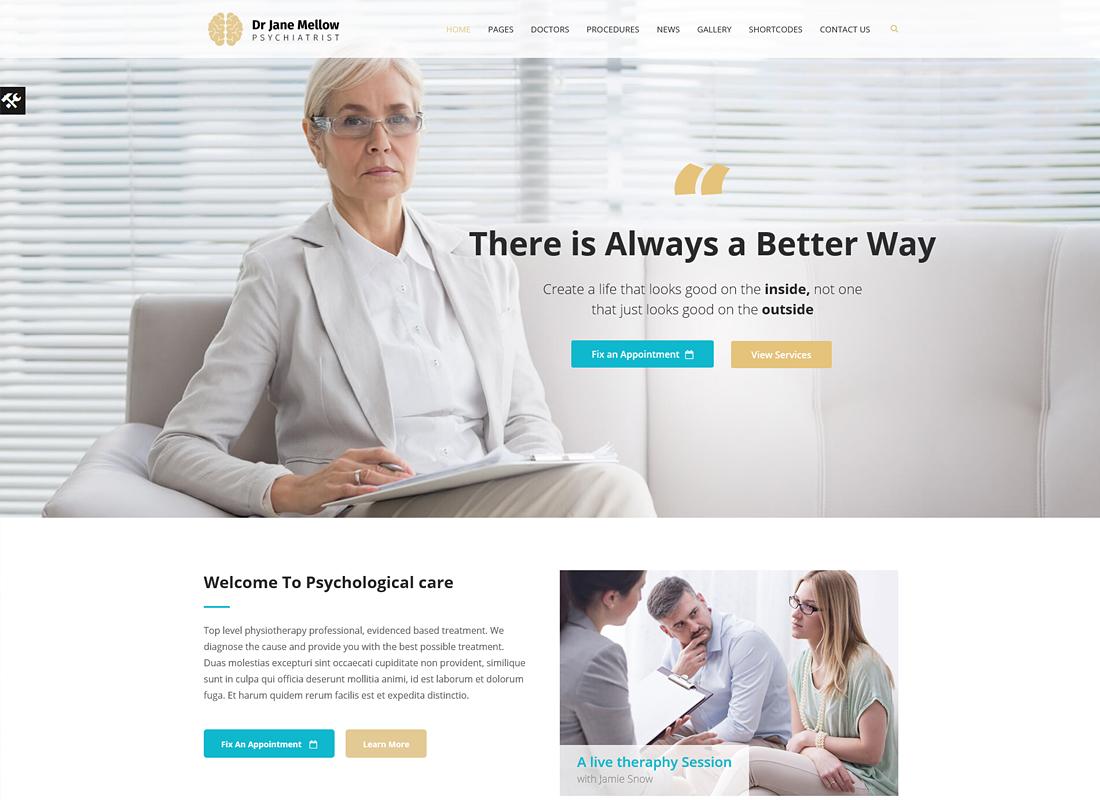 Thérapeute en psychologie    Psychologue, Thème WordPress de conseil