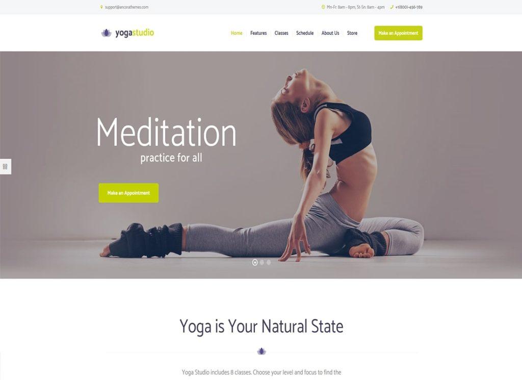 Yogastudio |  Thème WordPress Yogastudio, Gym et Santé