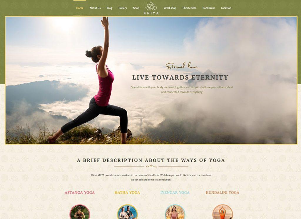 Kriya Yoga |  Thème WordPress pour la santé et le yoga