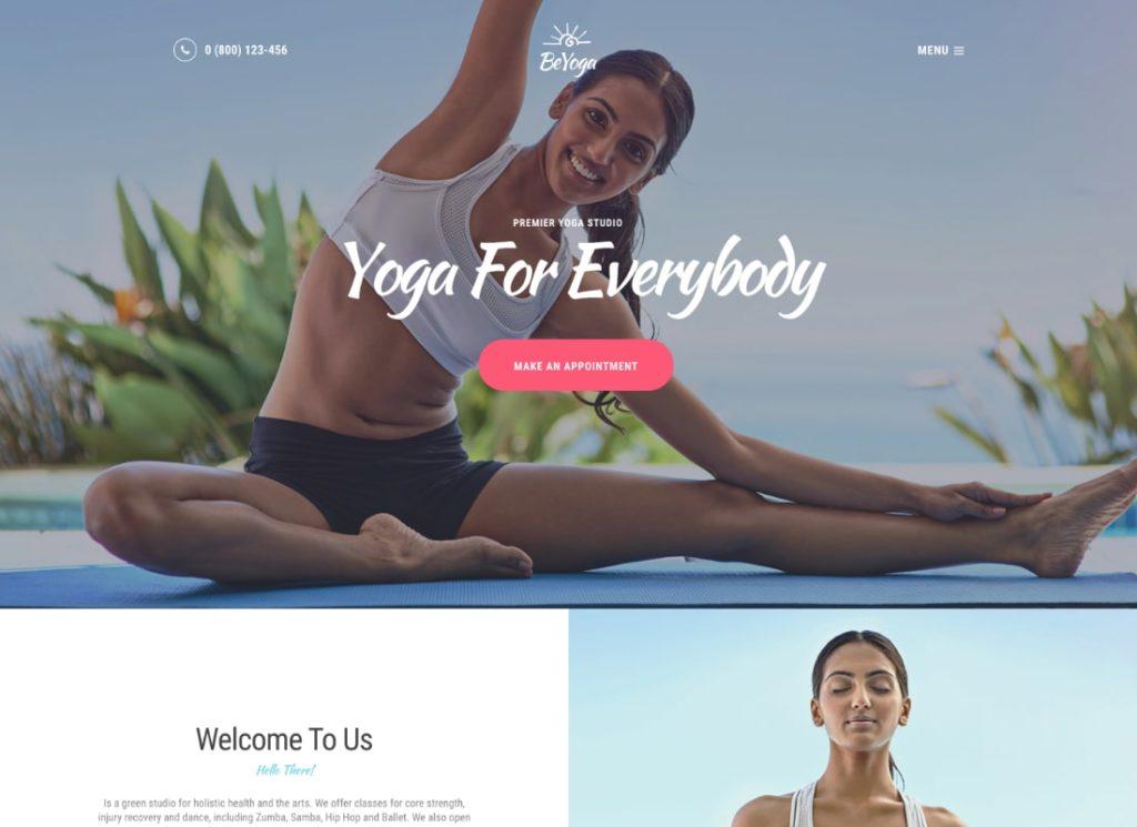 BeYoga |  Thème WordPress Yogastudio & Gym