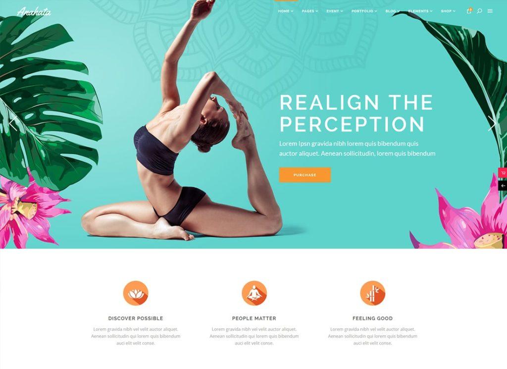 Anahata |  Thème WordPress pour le yoga, le fitness et le style de vie