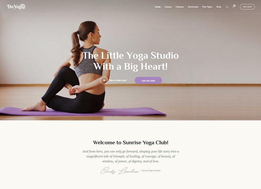 Faire du yoga |  Thème WordPress pour Fitness Studio & Yoga Club