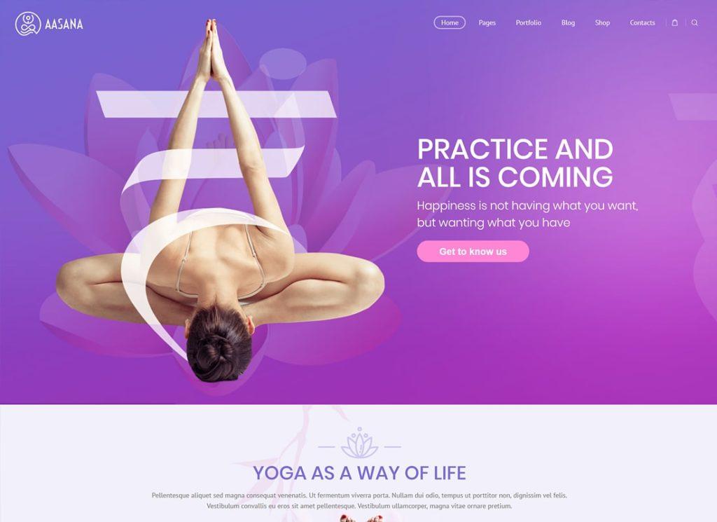 Aasana |  Thème WordPress pour la santé et le yoga