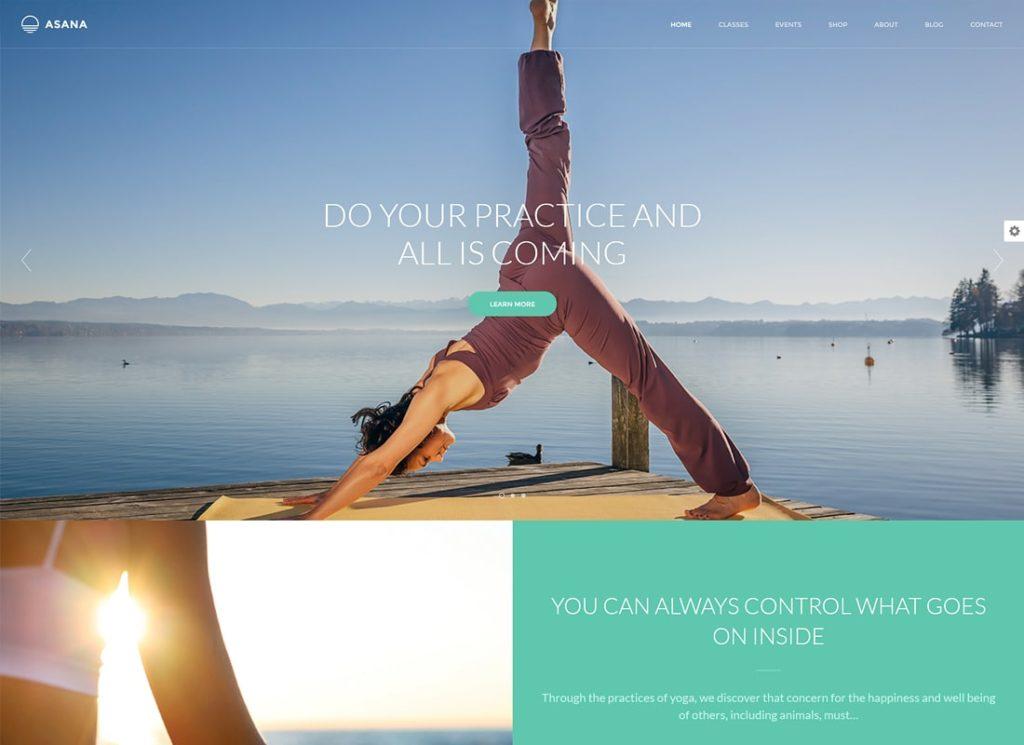 Asana |  Thème WordPress pour le sport et le yoga