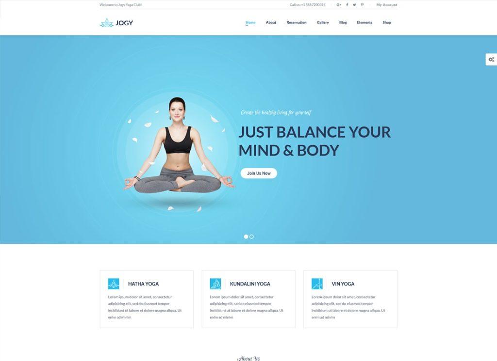Yoga et spa |  Thème WordPress Jogy