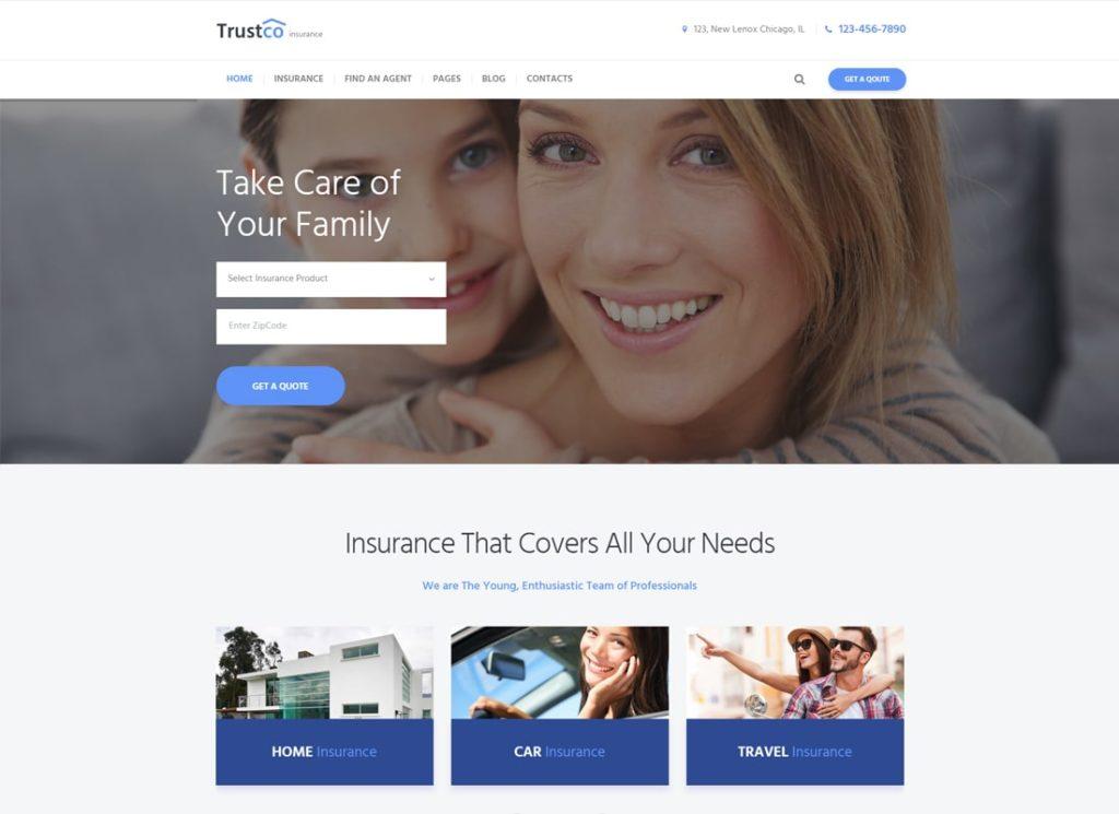 TrustCo    Thème WordPress pour les agences d'assurance et les entreprises