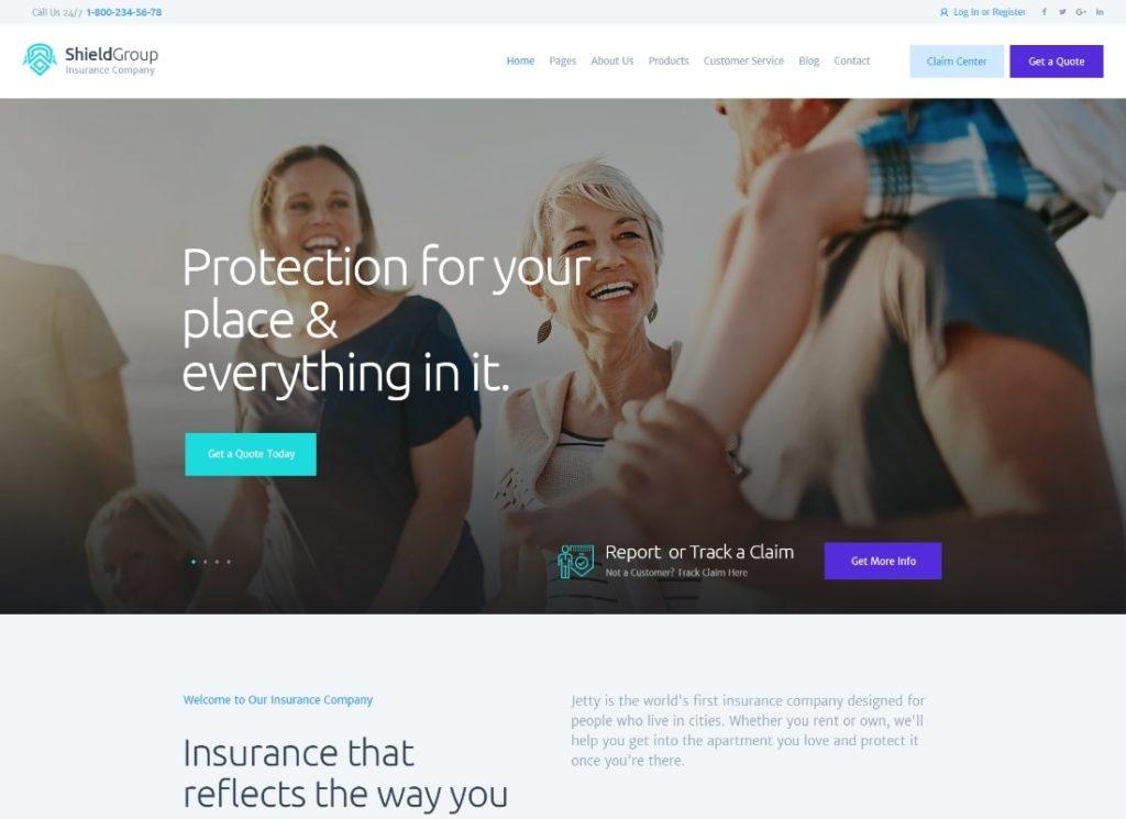 ShieldGroup    Thème WordPress pour l'assurance et la finance