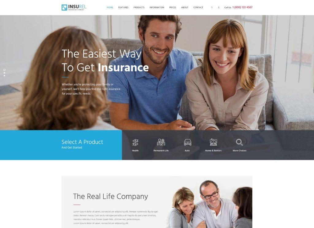 InsuRel    Thème WordPress pour l'assurance et la finance