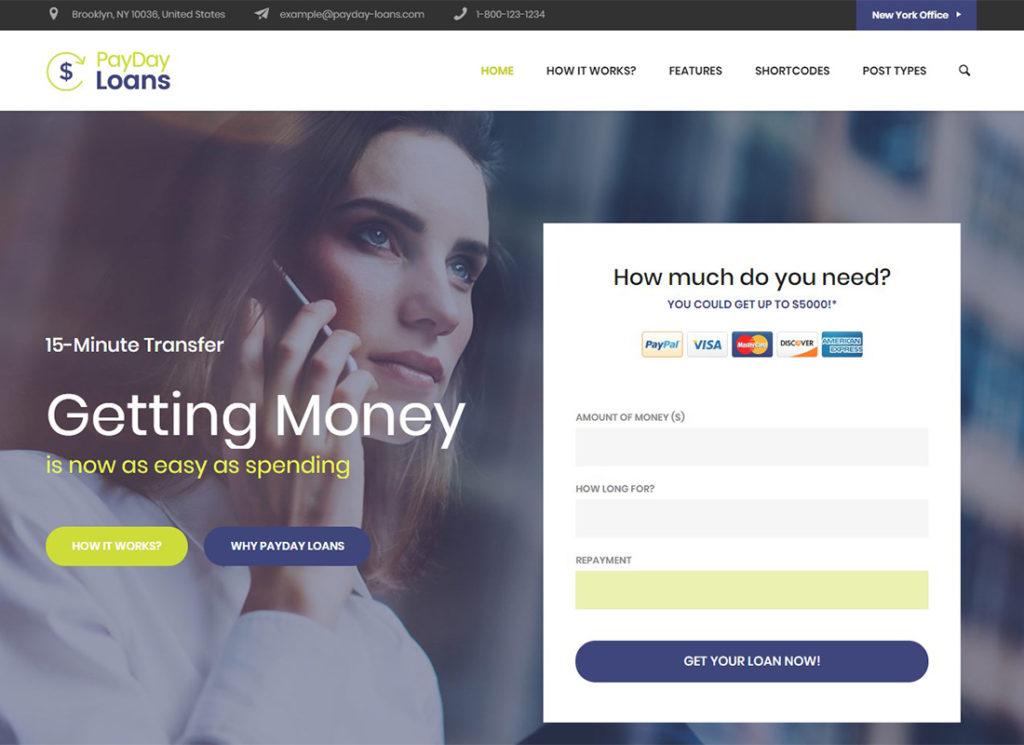 Les finances    Thème WordPress pour les prêts sur salaire, les finances et les entreprises