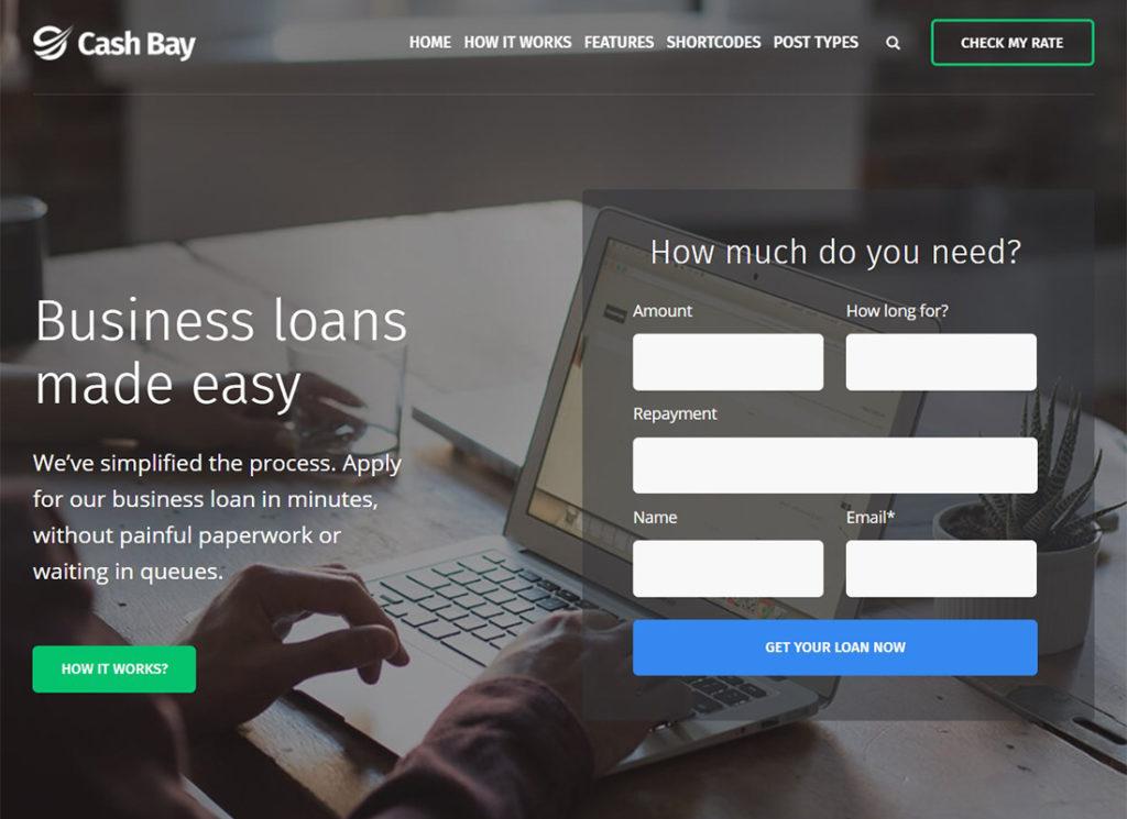Cash Bay    Thème WordPress de prêt et de crédit