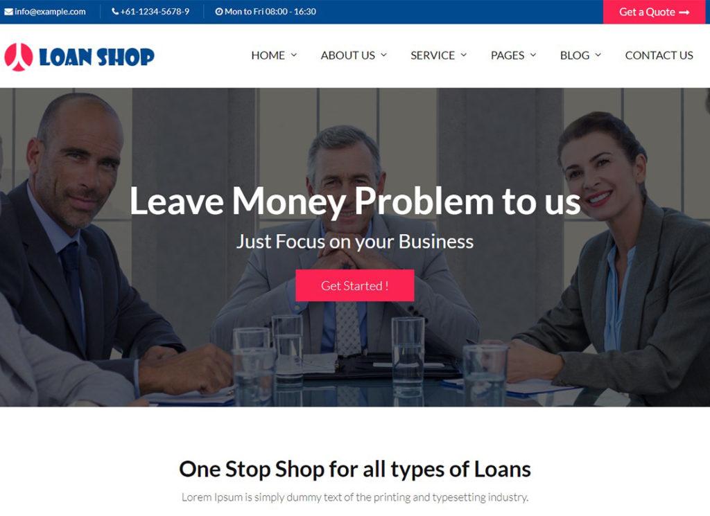 prêts-magasin-prêt-entreprise-conseiller-financier-thème-wordpress